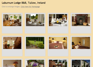 click here for Photo Gallery, Laburnum Lodge, Four star, B&B, Tullow, Co. Carlow, Ireland